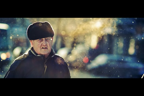 street old portrait sun snow man colors canon golden focus bokeh montreal candid streetphotography cinematic magical grumpy goldenhour 135mm f20 5dmk2