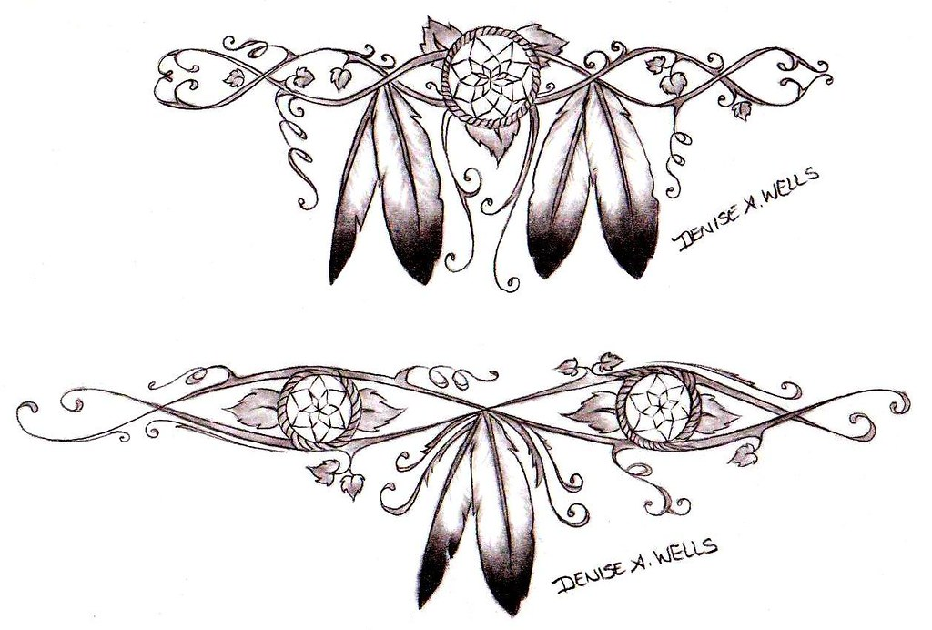 e7d8273d5 ... Girly Dreamcatcher Tattoos by Denise A. Wells | by ♥Denise A. Wells♥