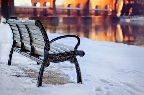 parkbench bench snow foxriver islandpark foxrivertrail genevaillinois theresnosuchthingasbadweatheronlybadclothes freezing subzerowindchill 1° caneyeballsfreeze project365 2010 december 3652010 gettyimages pixelmama explore