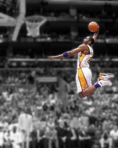 Kobe Bryant Black Fade Black And White Background To A Cla