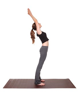 yoga poses  standing back bend position anuvittasana