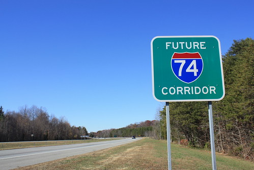 2010 northcarolina i74 interstate74 us311 signs 500views 1000views