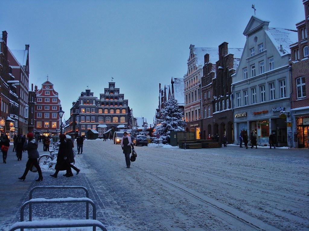 Winter In The City Hansestadt Luneburg Am Sande Flickr