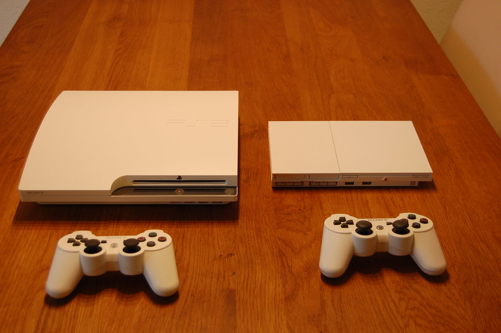 PS3 and PS2 classic white slim | My Playstations from Hongko… | Flickr