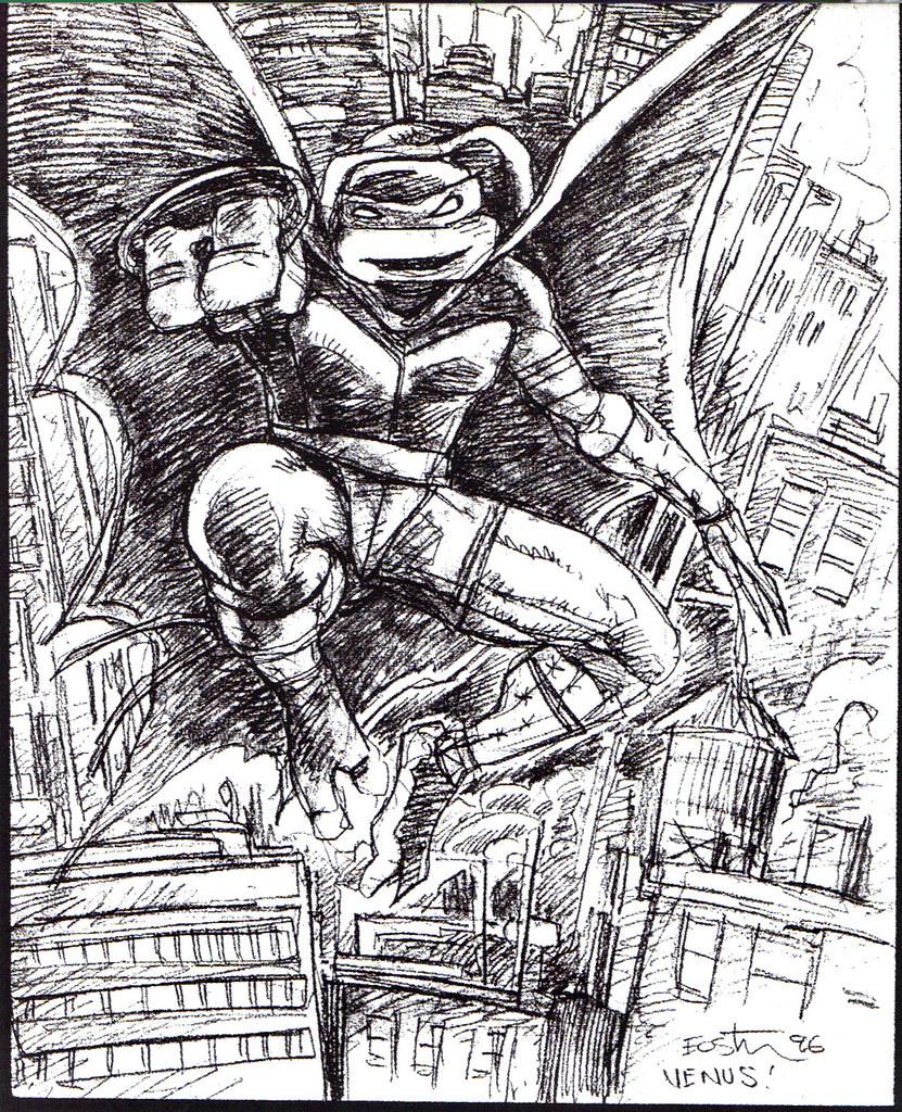 """Kevin Eastman's """"TEENAGE MUTANT NINJA TURTLES"""" Artobiography :: Ninja Turtles: The Next Mutation ..""""Venus"""" concept art (( 1996 )) by tOkKa"""