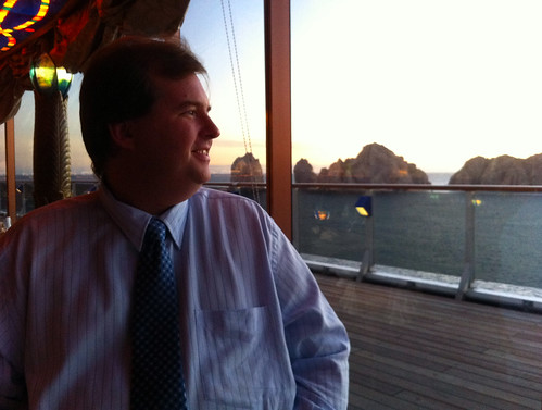 Nouveau Steakhouse - Mike Looking at Cabo San Lucas | by Miss Shari