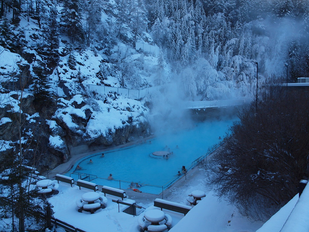 Radium Hot Springs in the Winter - Radium, B.C.