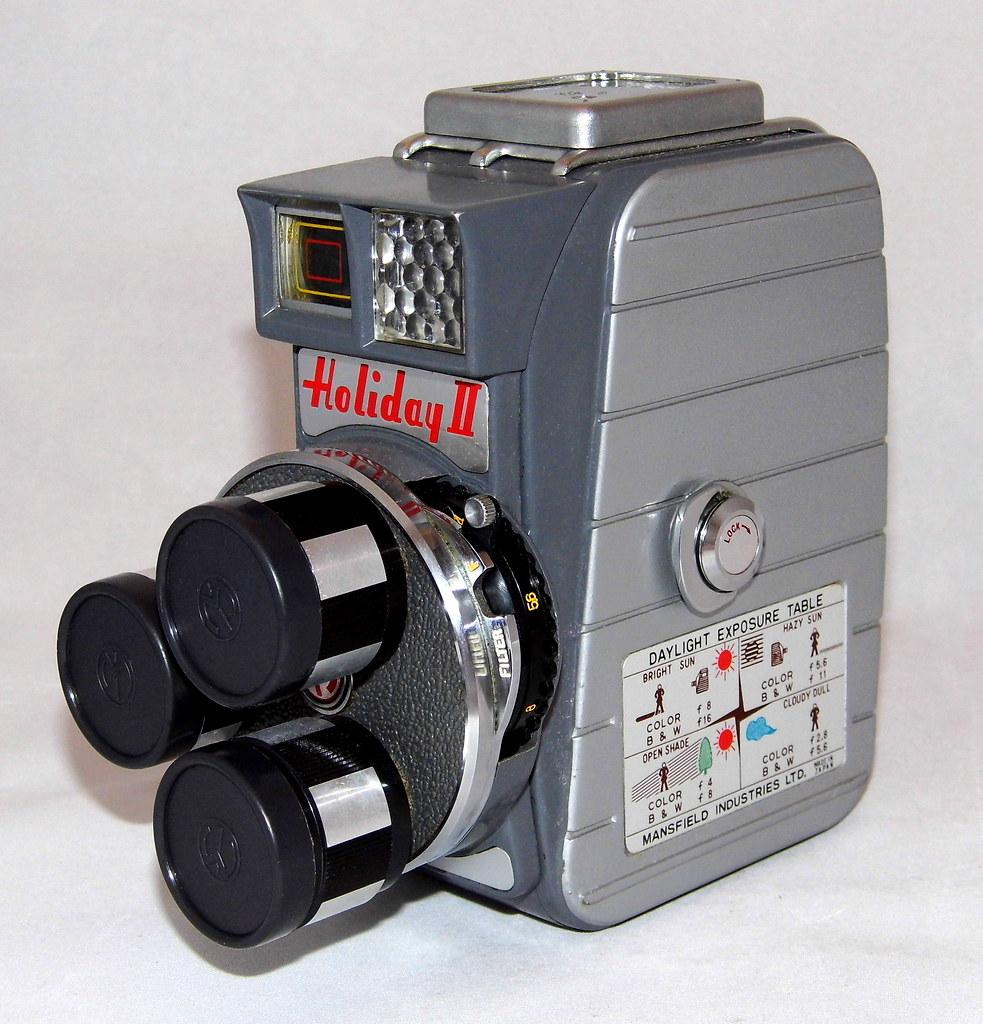 8Mm Vintage Camera vintage mansfield holiday ii 8mm triple turret lens movie