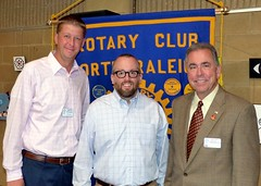 L-R: Curtis Stevens, our guest speaker for today Brian Fitzsimmons and Club President Scott Tarkenton.