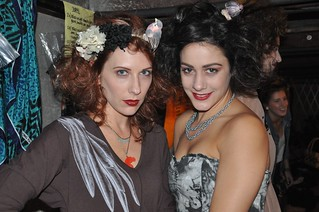 Riot Fashion show @ Guilt & Co. Amber + Stacey before the catwalk!   by Janis Behan
