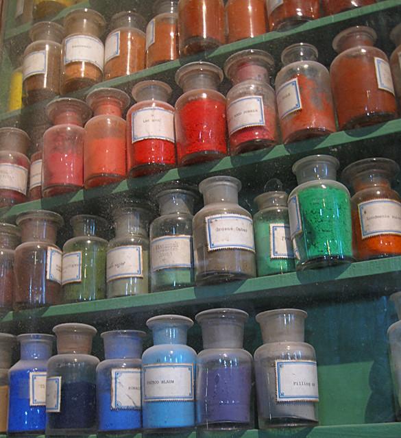 delirium for painters, raw pigments