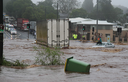 rescue fire trapped flooding flood police australia queensland toowoomba