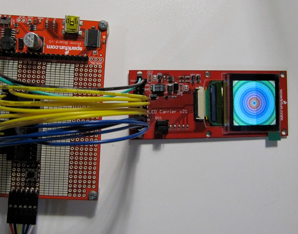 128x128 OLED Board from SparkFun (with SSD1339 Controller