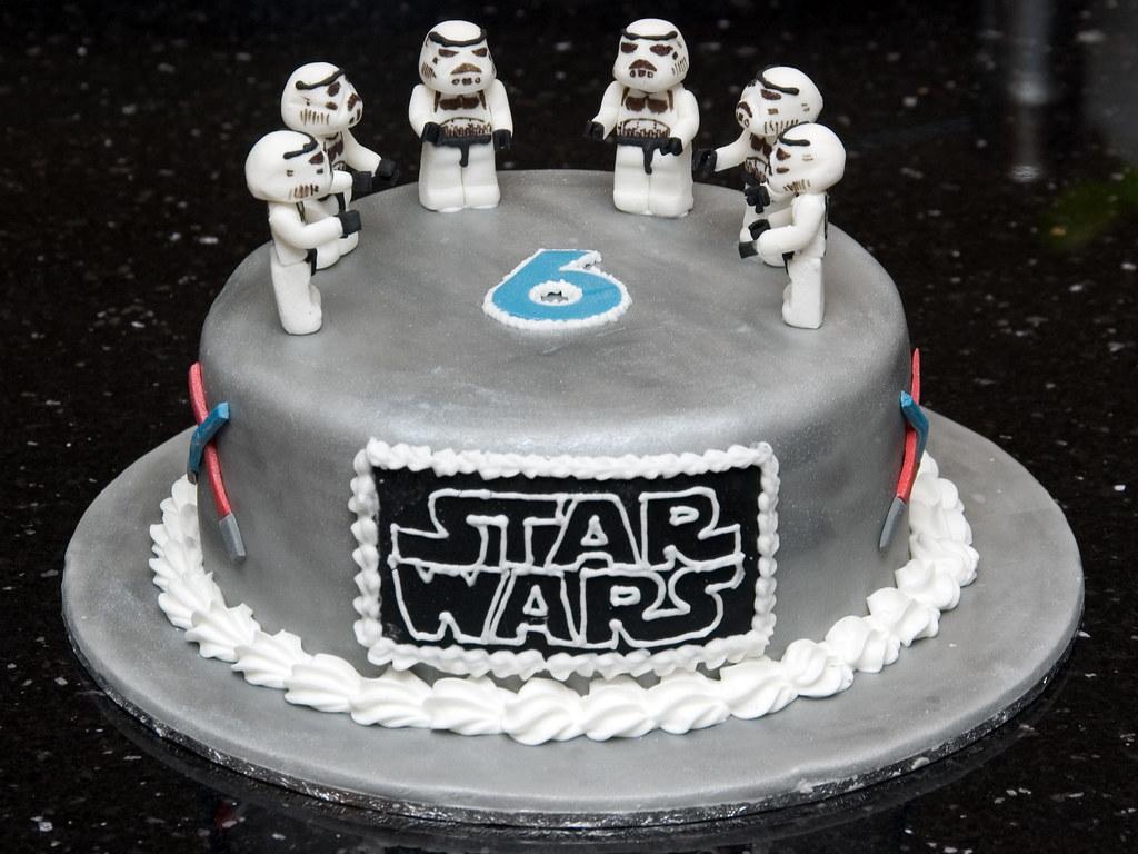 Peachy Lego Star Wars Stormtrooper Cake Joanne Mcdonald Flickr Personalised Birthday Cards Vishlily Jamesorg