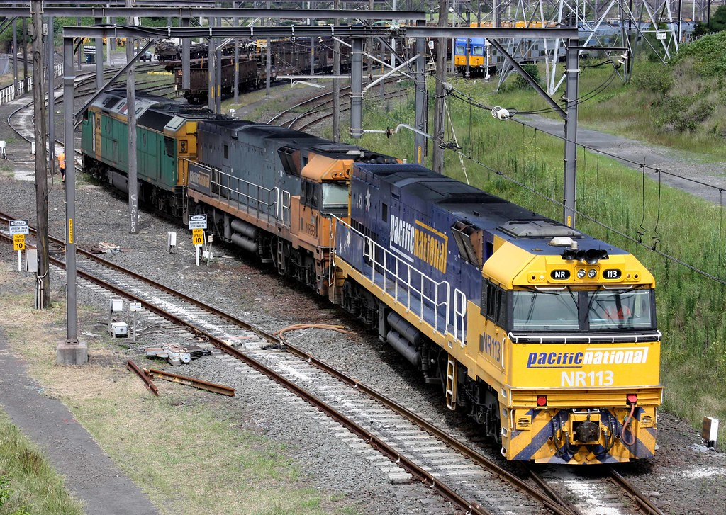 NR113, NR93 & AN7 at Port Kembla yard by glenn5108