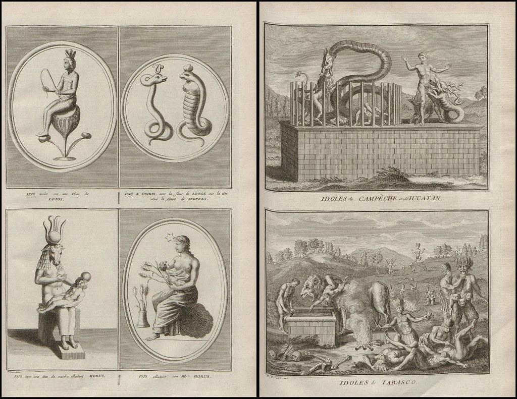 Isis, Osiris and Horus AND Idoles de Campeche, Iucatan et …   Flickr