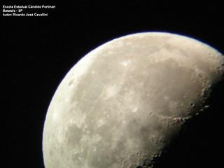 Moon for a Galileoscope view Batatais - Brazil