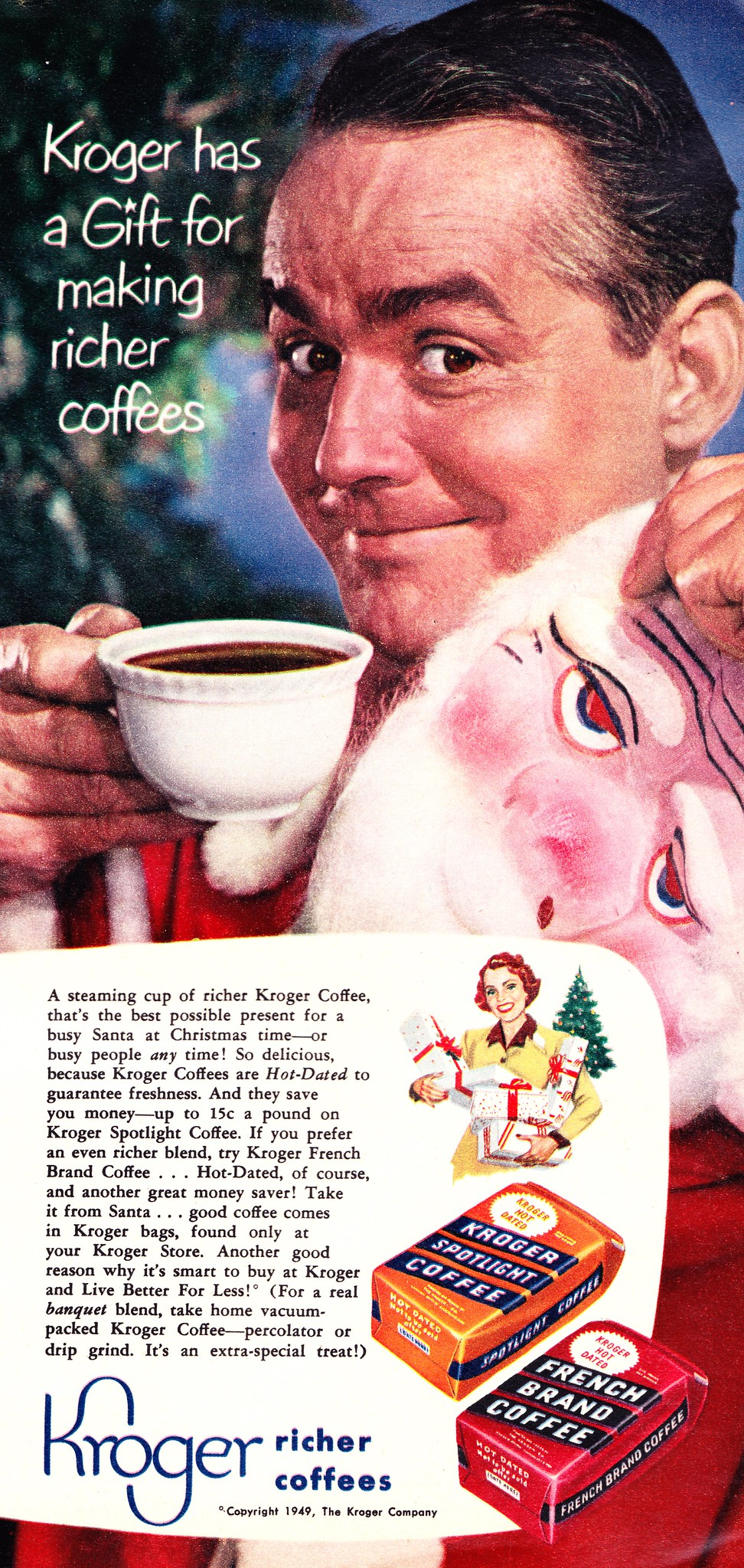 Kroger Coffees - published in Family Circle - December 1950