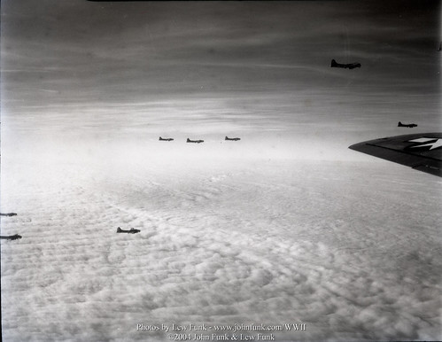 B-17s on Mission to Aschaffenburg 3 Jan 1945 | by John Funk from Golden Colorado