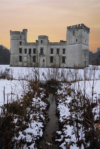 park winter snow castle garden nikon hiver jardin neige chateau botanicalgarden parc meise jardinbotanique bouchout fotolia d40x
