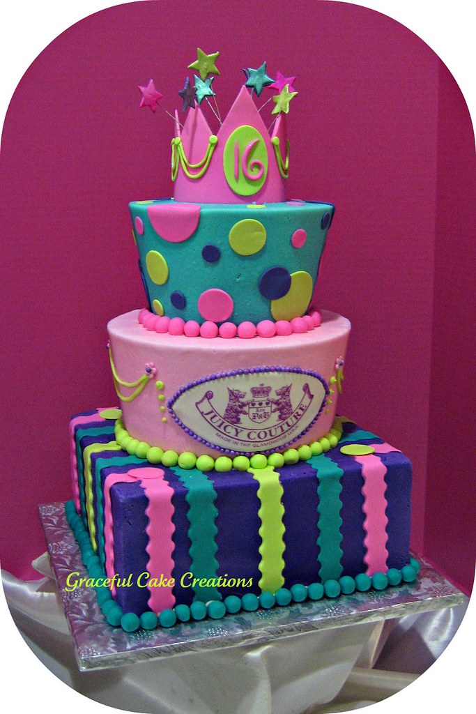 Enjoyable Sweet 16 Birthday Cake Grace Tari Flickr Funny Birthday Cards Online Sheoxdamsfinfo