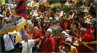 TIbetians protest | by madhu_acj