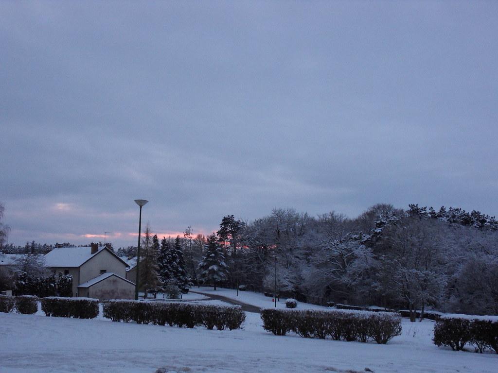 Coucher de Soleil avec neige