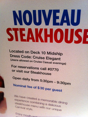 Nouveau Steakhouse - Jeans Allowed | by Miss Shari