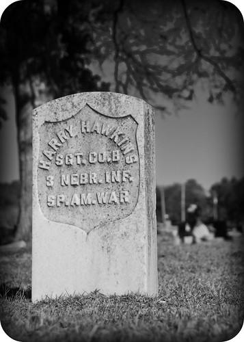 bw grave spam marker veteran day15 picnik spanishamericanwar project365 lynnhavencemetary project36612011 3652011 15jan2011 day11111461
