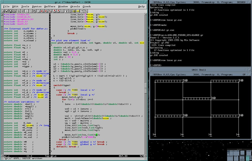 Developing a MS-DOS application on IRIX | Trying to develop