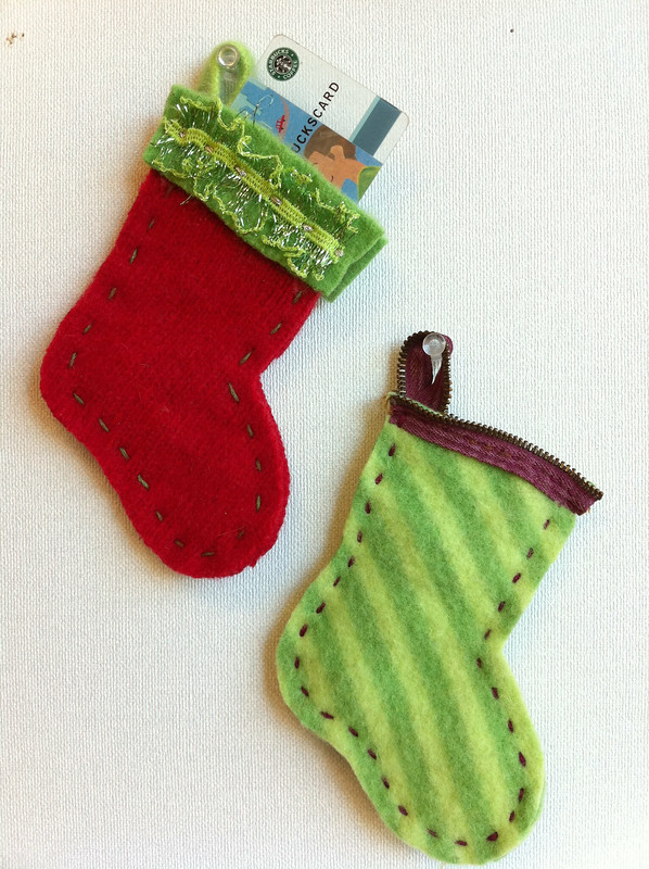 Gift card holder or mini stocking ornament