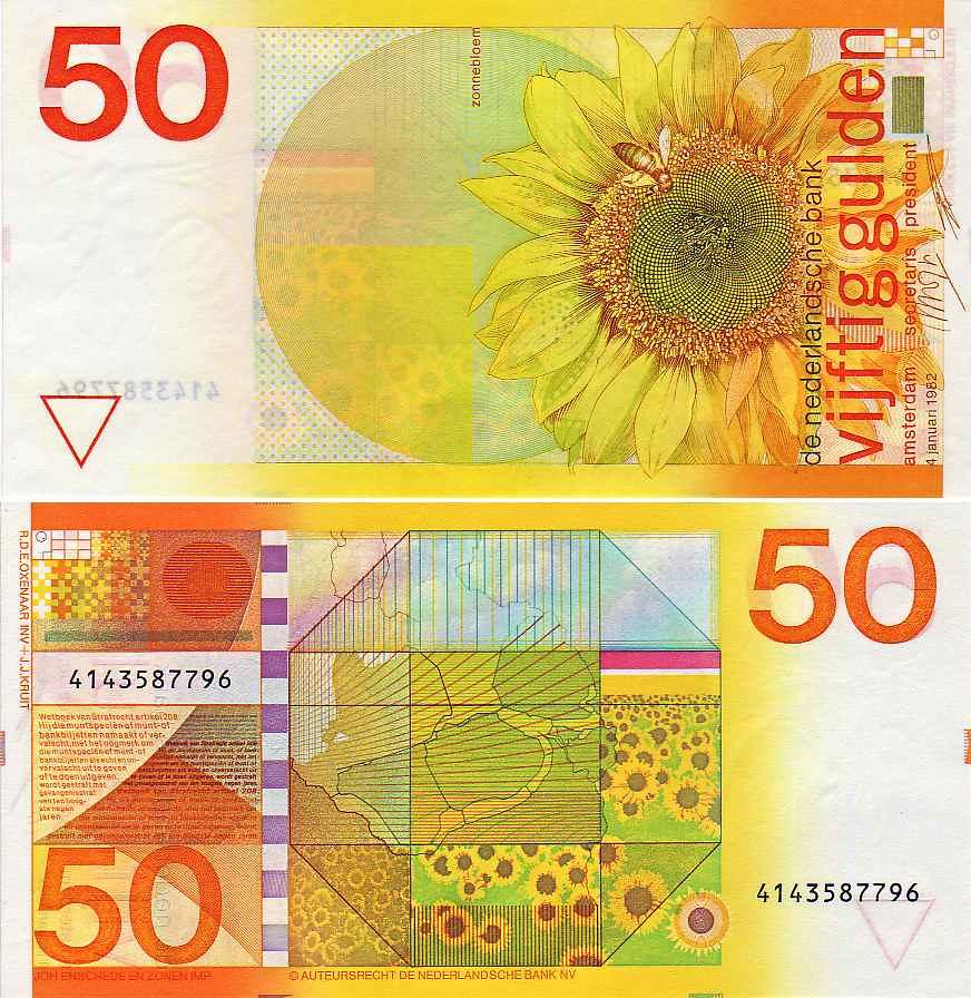 1977, bank note 50 gulden   banknote of 50 gulden (guilders)…   flickr