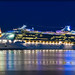 Images of ships & boats in the twilight & at night