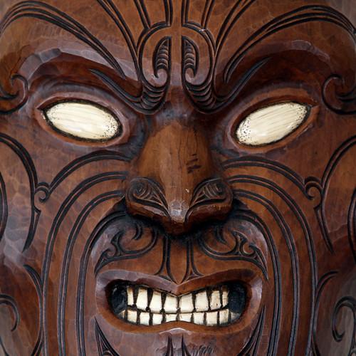 Detail Of Mask Depicting Maori Facial Tattoos, I