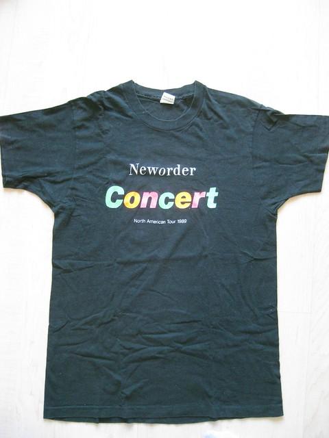 New Order Concert T-Shirt Front