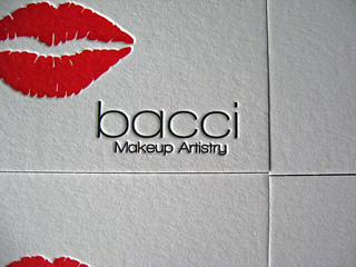 Bacci Makeup Letterpress Cards - Bacci Closeup | by dolcepress
