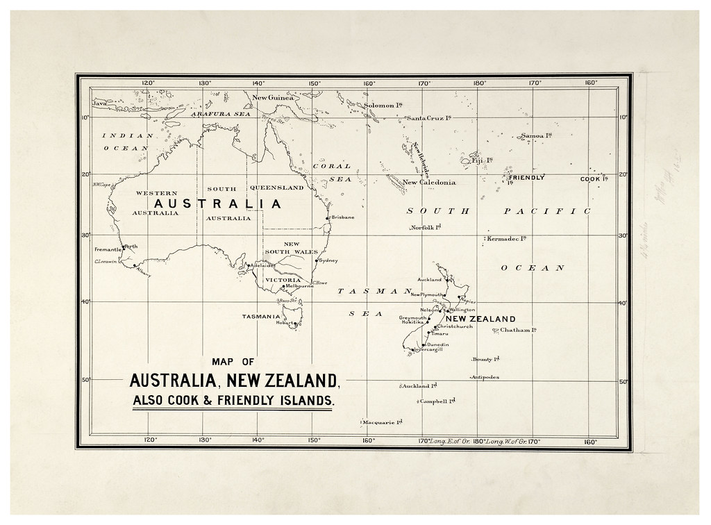 Map Of Australia Islands.Map Of Australia New Zealand Cook Friendly Islands 19 Flickr
