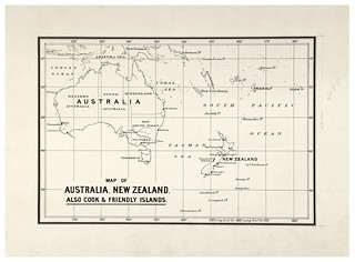 Map of Australia, New Zealand, Cook & Friendly Islands (1900)