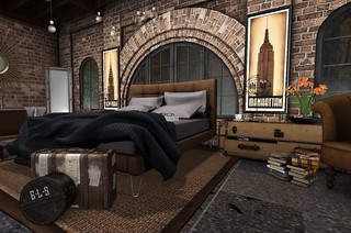 4 Seasons of Bedrooms: Autumn Glow (Fall Bed) | by Hidden Gems in Second Life (Interior Designer)