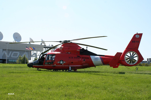 USCG Helicopter on NSOF Lawn2