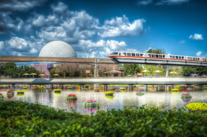 Spaceship Earth and Monorail