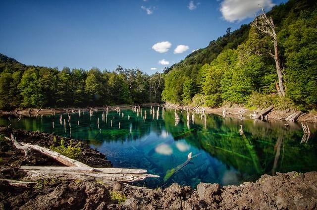 Laguna Arcoíris, Parque nacional Conguillio, Chile