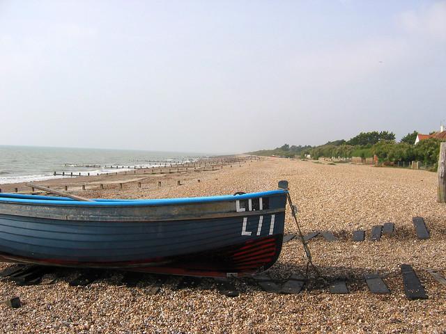 Boat on the beach near Angmering