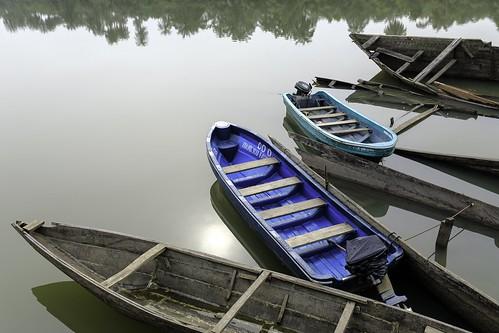 nigeria uyo ibom fisher morning sun river reflections tranquil zen calm boat serene water