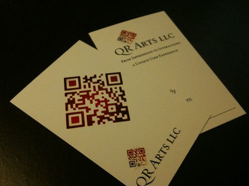 Qr code business card - 2010 | by qrarts