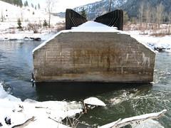 Abandoned Milwaukee Road bridge,Montana.