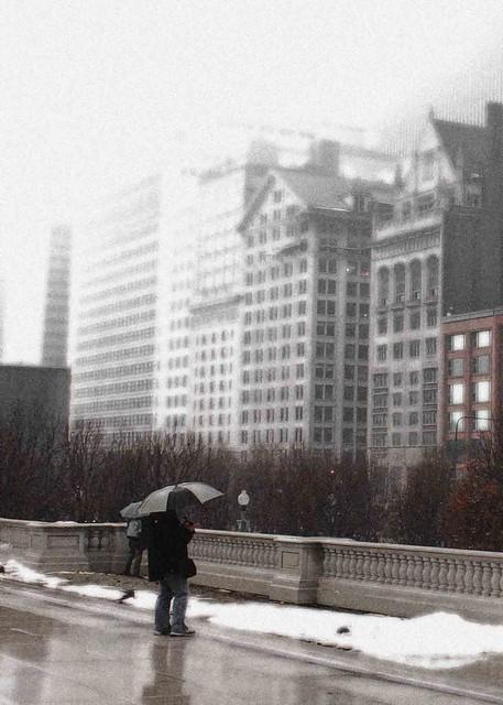A rainy Chicago.
