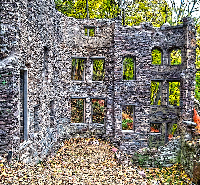 Castle Ruins (4) Poster-style HDR, Jim Thorpe, Pennsylvania