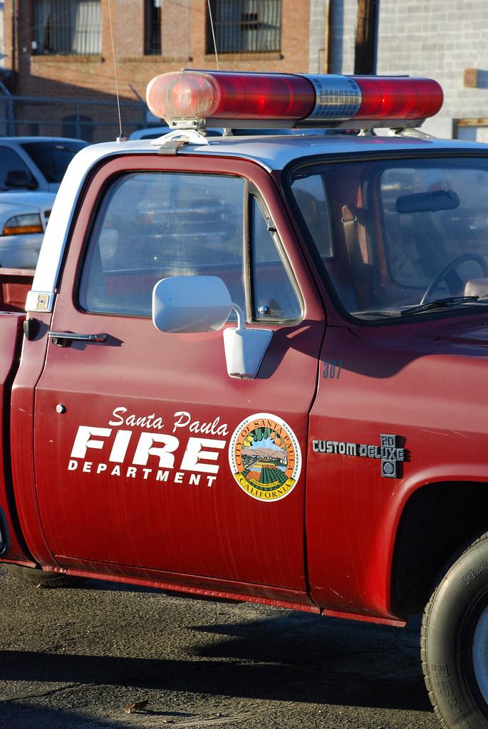 Santa Paula Chevy >> Santa Paula Fire Dept 1980s Chevy Pickup In Santa Paula