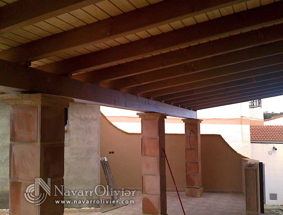 Porche Con Pilares De Obra Porche Para Terraza En Madera R